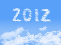 Year 2012 on clouds background. Royalty Free Stock Photography