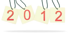 Year 2012 paper tag Stock Photography