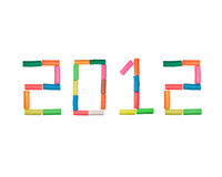 Year 2012 plasticine number. Year 2012 made from plasticine Royalty Free Stock Photo