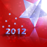 Year 2012  stars vector background Royalty Free Stock Images