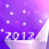 Year 2012  stars vector background Stock Photos