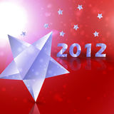 Year 2012  stars vector background. Creative illustration eps10 Stock Images