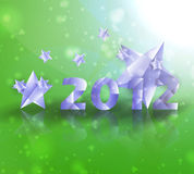 Year 2012  stars vector background. Creative illustration eps10 Royalty Free Stock Images