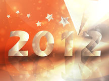 Year 2012  stars vector background. Creative illustration eps10 Royalty Free Stock Photos