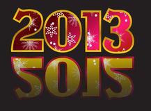 Year 2012, year 2013 Vector. New year 2013 with reflection end of year 2012 Card Vector Stock Photography