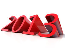 Year 2013. New Year 2013 over white Background Stock Photos