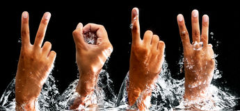 The year of 2013. Image of the year 2013, movement of hand in the water Royalty Free Stock Images
