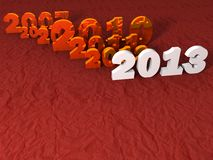 Year 2013. Greeting card background vector illustration