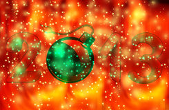 Year 2013 with bomb burning. A festive background Royalty Free Stock Image