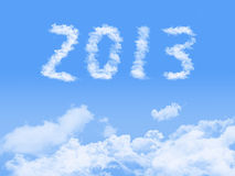 Year 2013 on clouds background. Stock Photography