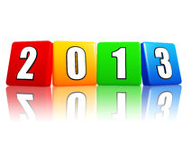 Year 2013 in color cubes Royalty Free Stock Image