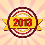 Year 2013 in colored circles Royalty Free Stock Images