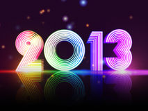 Year 2013 in colored figures. Year 2013 in 3d rainbow colored figures, disco number Stock Photo