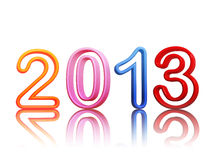 Year 2013 in colored wire figures Royalty Free Stock Image