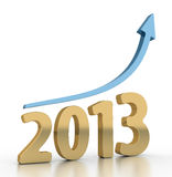 Year 2013 Growth Chart. Like a golden year vector illustration