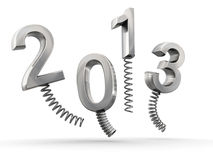 Year 2013 new year celebration. 3d illustration royalty free illustration