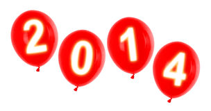 Year 2014 balloons Stock Images