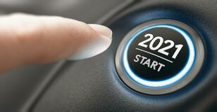 Free Year 2021 Start, Two Thousand And Twenty One Concept Royalty Free Stock Image - 174096056