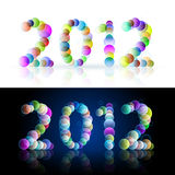 Year. Illustration on white and black background for design Royalty Free Stock Photo