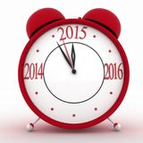 2015 year on alarm clock. 3d  icon on white Stock Photos