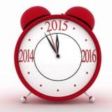 2015 year on alarm clock Stock Photos