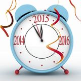 2015 year on alarm clock Stock Image