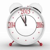 2015 year on alarm clock. 3d illustration on white background Royalty Free Stock Images