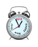 2015 year on alarm clock. 3D image Royalty Free Stock Photos