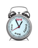 2016 year on alarm clock. 3D image Stock Image