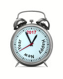 2017 year on alarm clock Stock Images