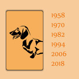 Year animal dog vector image. Template vector illustration