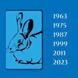 Year animal rabbit vector image. Template Royalty Free Stock Photos