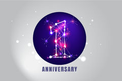 1 year anniversary design Royalty Free Stock Images
