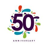 50 Year Anniversary Vector Design Illustration. 50 Year Anniversary Vector Template Design Illustration stock illustration