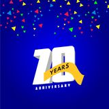 20 Year Anniversary Vector Design Illustration. 20 Year Anniversary Vector Template Design Illustration vector illustration