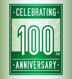 100 years celebrating anniversary design template. 100th logo. Vector and illustration. vector illustration