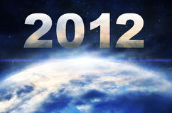 2012 year of the apocalypse. Alien apocalypse armageddon asteroid astronomy atmosphere royalty free illustration