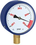 2015 year approaching manometer Royalty Free Stock Photography