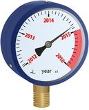 2016 year approaching manometer. 2016 year approaching blue manometer Stock Photography