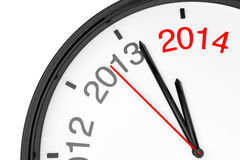 The year 2014 is approaching Royalty Free Stock Image