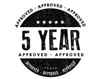 5 year approved icon Stock Photography