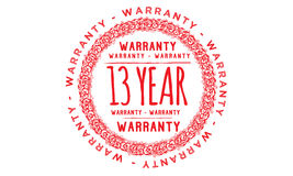 13 year approved icon. 13 year approved red icon warranty Royalty Free Illustration