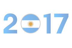 Year 2017 with Argentina Flag Royalty Free Stock Photo