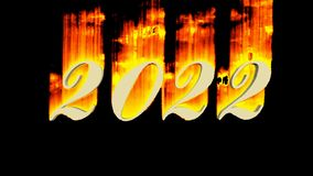 2022 - year as video sequence royalty free illustration