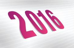 Year 2016 background Stock Image