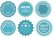 2017 year badge Stock Photography