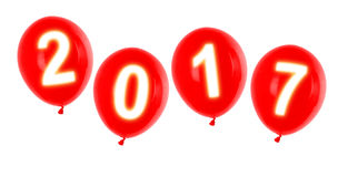 Year 2017 balloons Stock Photography