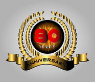 80 year birthday celebration, 80th anniversary  Royalty Free Stock Images
