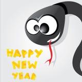 Year of black snake. Stock Photos
