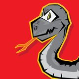 Year of black snake. Royalty Free Stock Image